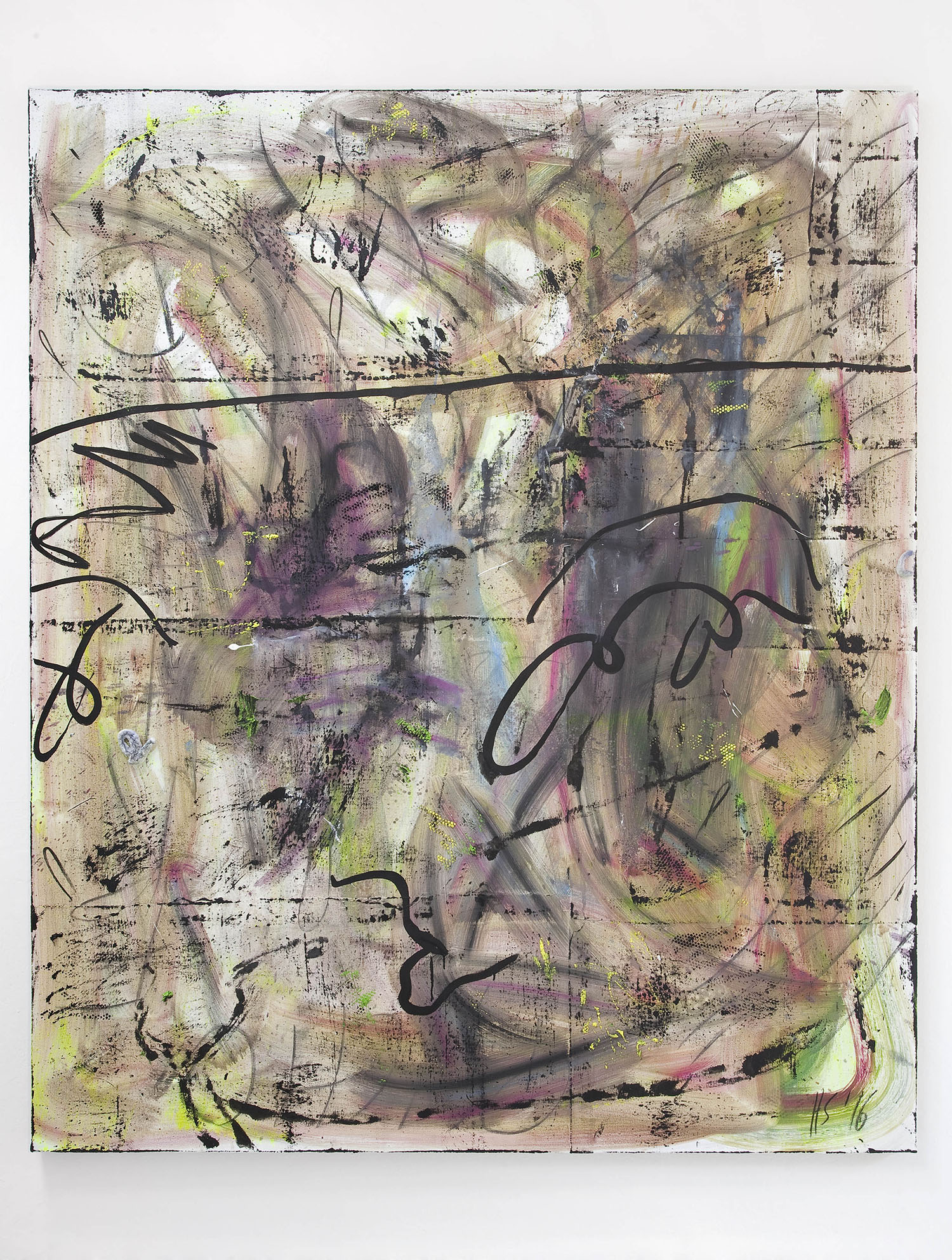 7 - Henning Strassburger Surviver Analyst 2016 oil and foam on canvas 200x140 cm - Courtesy Studiolo Milan copia 2